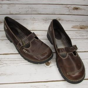 Route 66 Brown Vegan Mary Janes Size 10